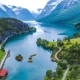 Lovatnet Lake Beautiful Nature Norway - VideoHive Item for Sale