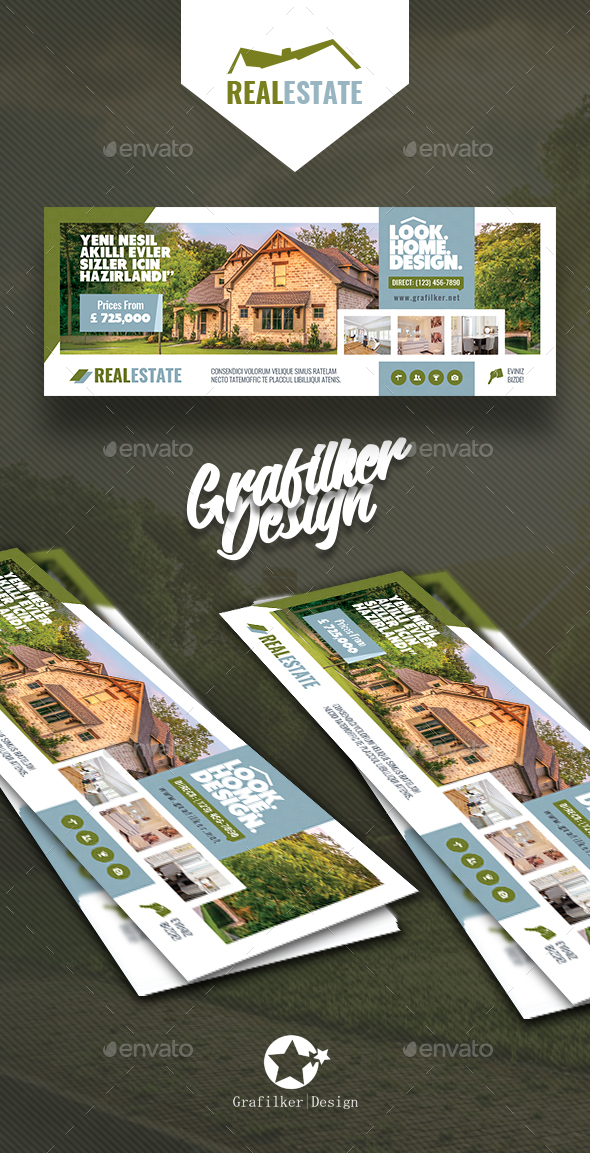 GraphicRiver Real Estate Cover Templates 20805477
