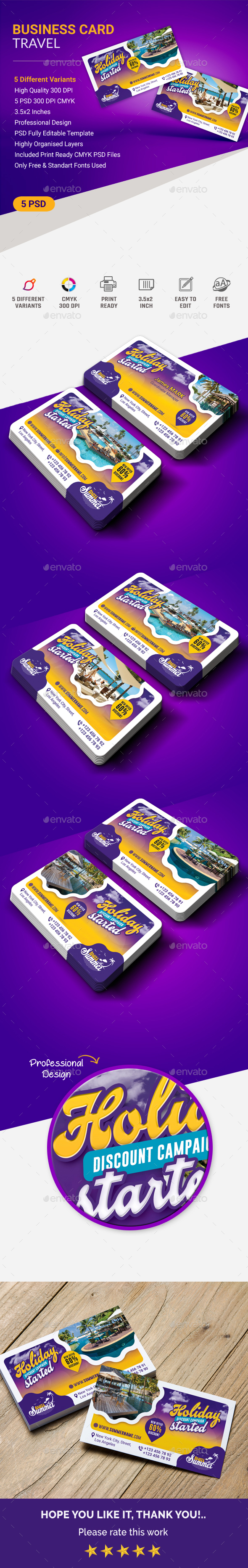 GraphicRiver Travel Business Card 20805531