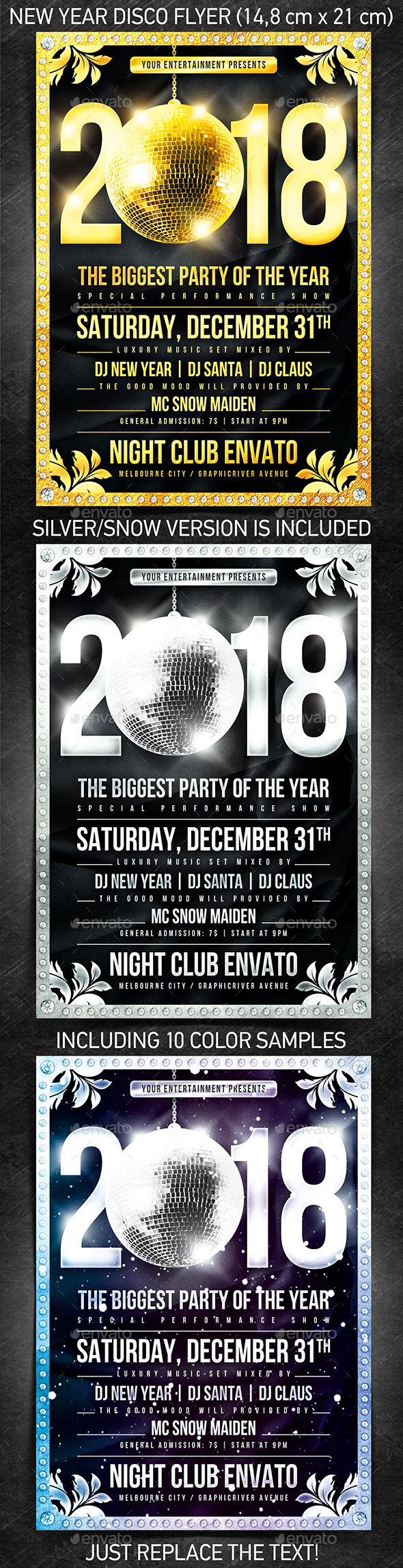 New Year Disco Flyer #1