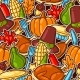Happy Thanksgiving Day Seamless Pattern - GraphicRiver Item for Sale