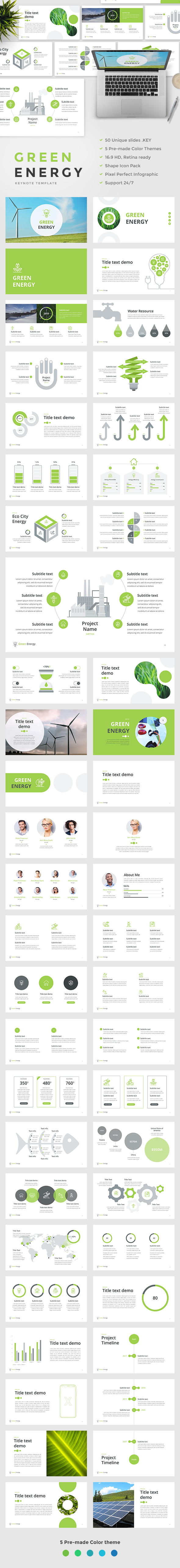 GraphicRiver Green Energy Keynote Template 20805579