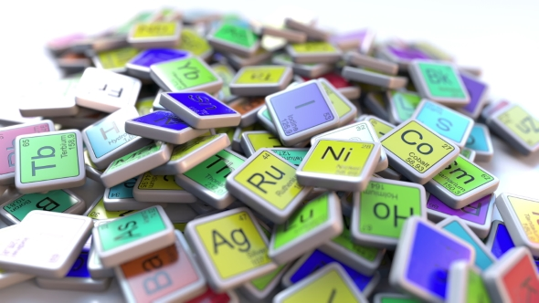 Tantalum Ta Block On The Pile Of Periodic Table Of The Chemical