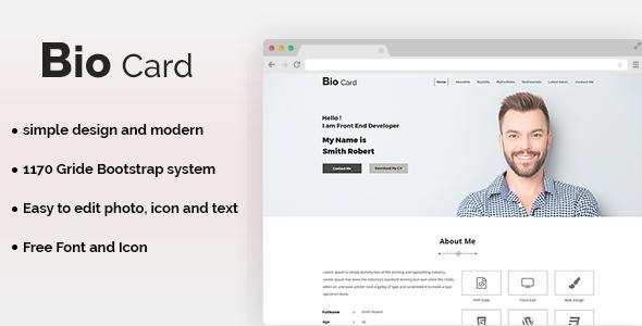 Biocard - Personal Portfolio PSD Template