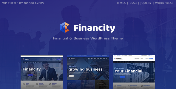 Image of Financity - Business / Financial / Finance WordPress Theme