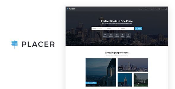 Placer - Geolocation & Directory Listing PSD Template