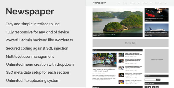 Newspaper - Responsive Newspaper CMS Script - CodeCanyon Item for Sale