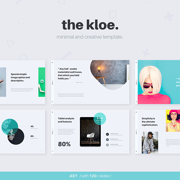 GraphicRiver KLOE Minimal & Creative Template Keynote 20805882