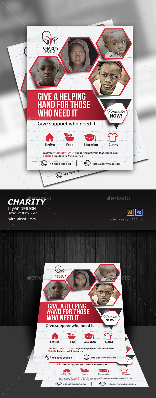 Charity Flyer - Flyers Print Templates