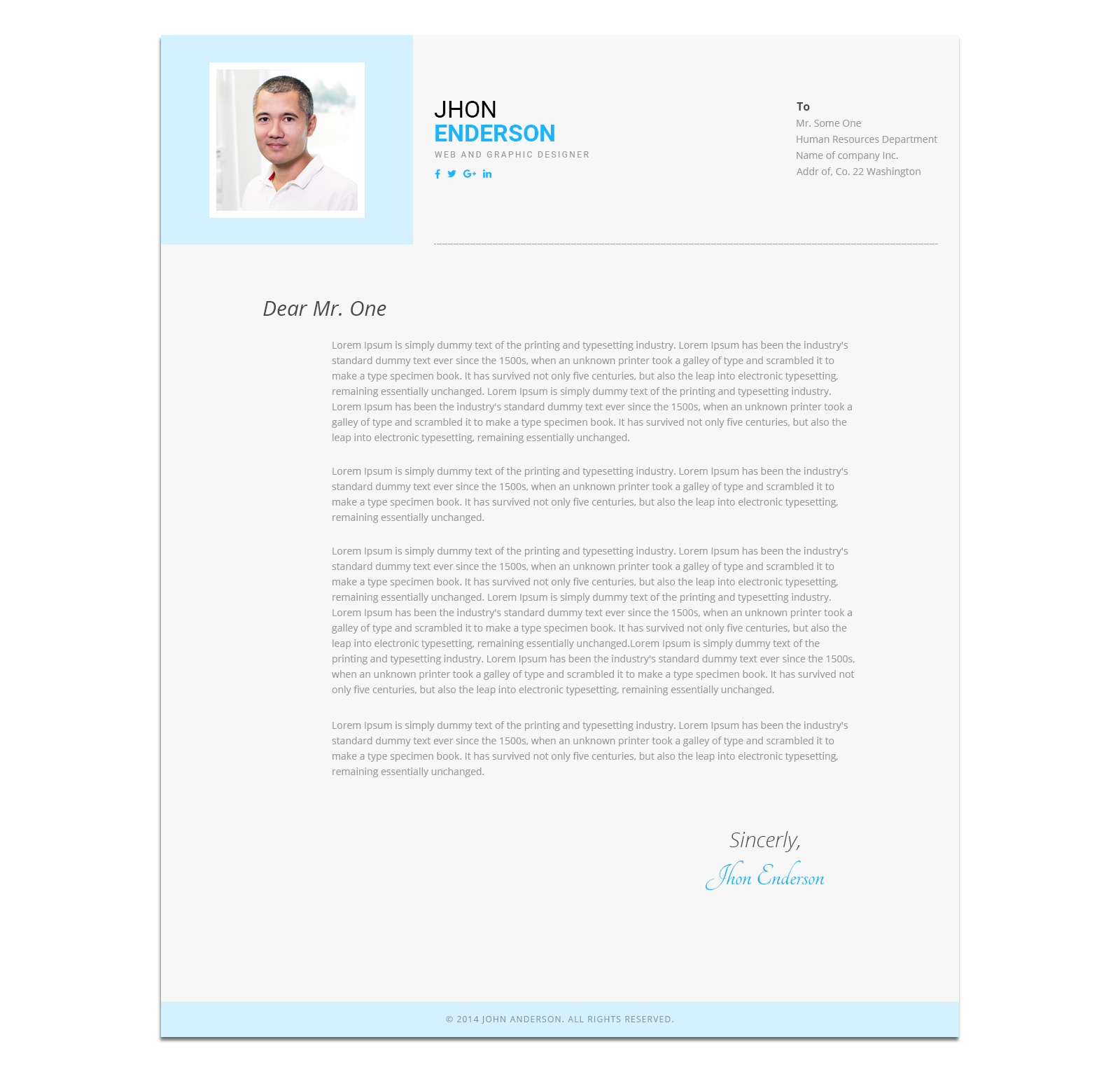 modern cv personal resume template by blendthemes