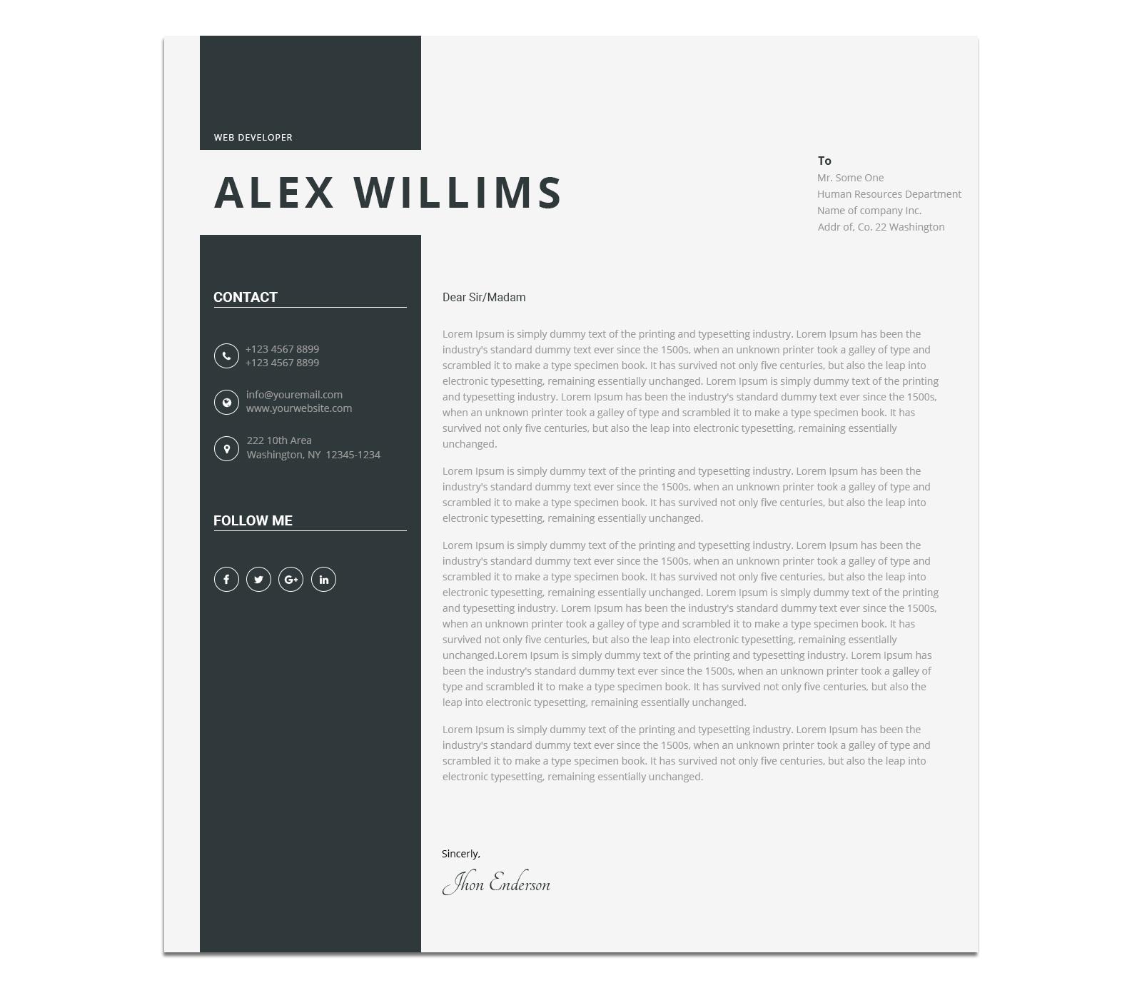modern cv personal resume template by blendthemes themeforest