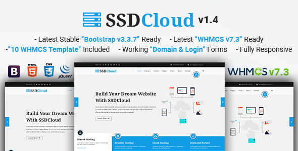 SSDCloud | Multipurpose Hosting with WHMCS and Technology Business Template - Hosting Technology