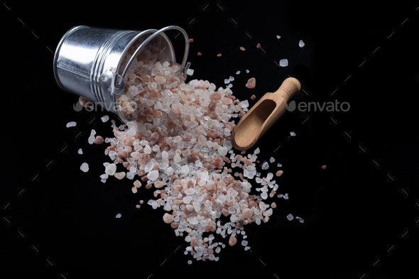 Bucket Salt and Spoon - Stock Photo - Images