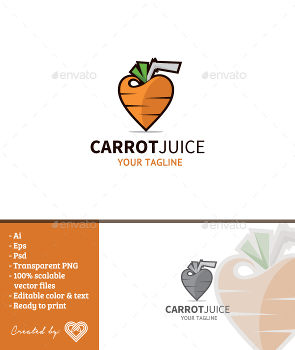 Carrot Juice - Food Logo Templates