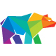 Bear Colorful Polygon Logo
