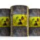 Radiation symbol on oil barrels, white background. 3d illustration - PhotoDune Item for Sale