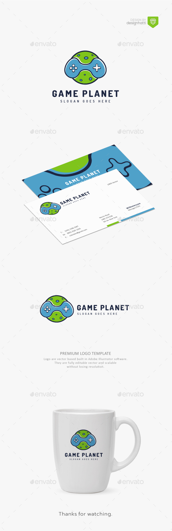 GraphicRiver Game Planet Gaming Logo 20806416