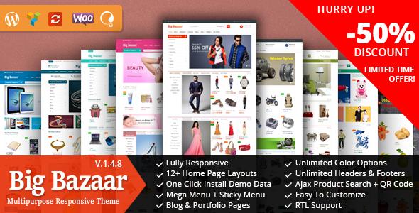 BigBazaar - Multipurpose Responsive Ecommerce Theme - WooCommerce eCommerce