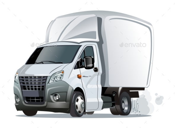 GraphicRiver Cartoon Delivery or Cargo Truck 20806602