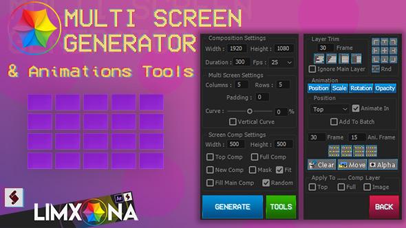 VideoHive Multi Screen Generator v1 20806604