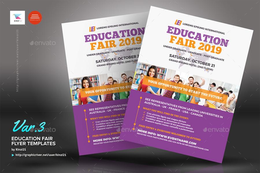 Education Fair Flyer Templates By Kinzi21 Graphicriver