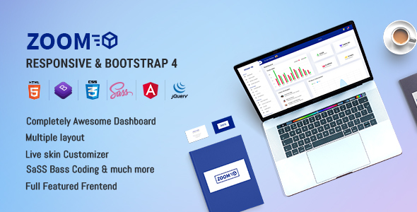 Zoom - Bootstrap 4 Admin Template + Angular 4
