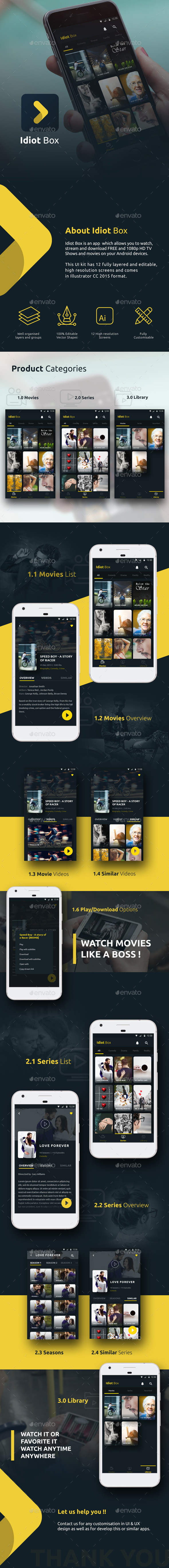 GraphicRiver Online Movie Streaming App Idiot Box 20778031