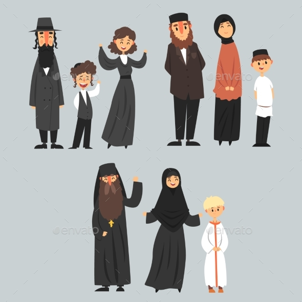 People of Different Religions - People Characters