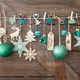 Christmas decorations on wooden background - PhotoDune Item for Sale