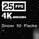 Snows 10 Pack 4K - VideoHive Item for Sale