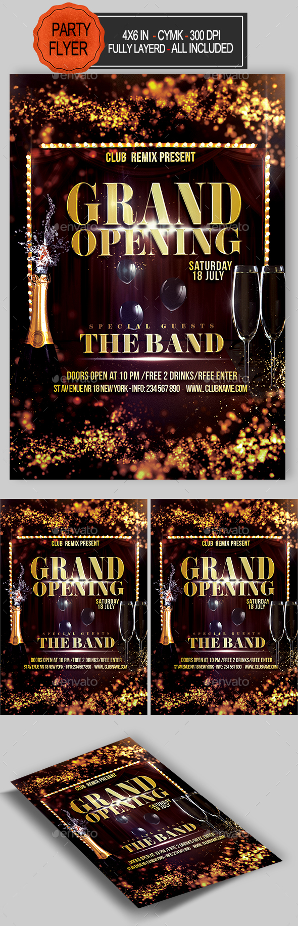GraphicRiver Grand Opening Flyer 20807220