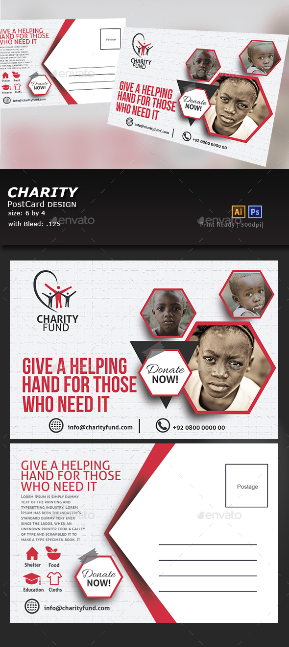 Charity Postcard - Cards & Invites Print Templates