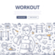 Workout Doodle Concept - GraphicRiver Item for Sale