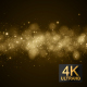 Particles Gold Background