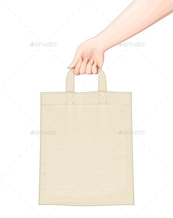 Hand Holds Shopping Bag - Miscellaneous Vectors