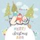 Penguin Friends Celebrating Christmas