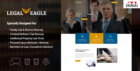ThemeForest Legal Eagle Law Firm and Business WordPress Theme 20218514