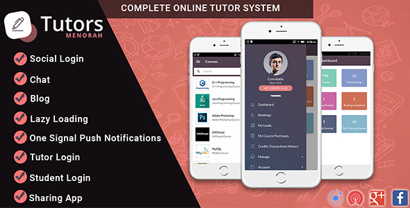 CodeCanyon MenorahTutor Tutor Directory Mobile App 20807493