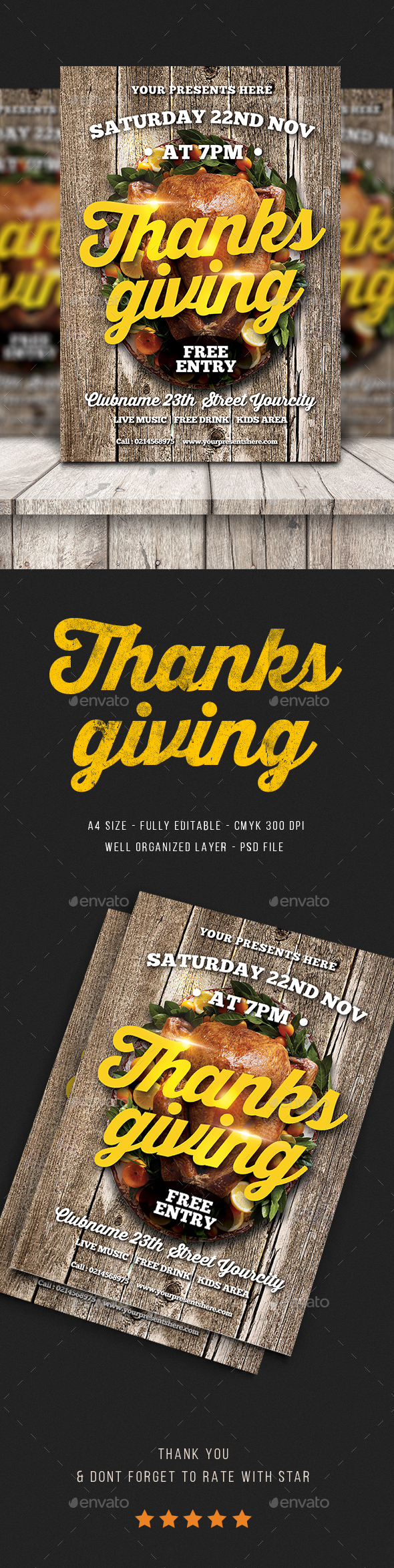 Thanksgiving Flyer - Flyers Print Templates