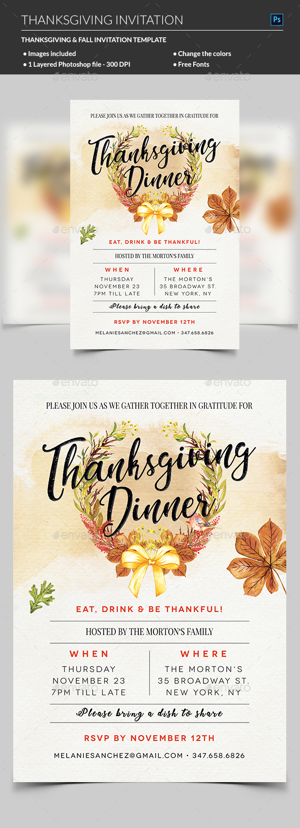 GraphicRiver Thanksgiving Flyer 20807564