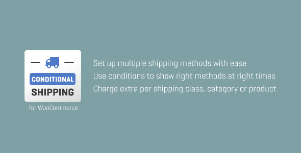 WooCommerce Conditional Shipping - CodeCanyon Item for Sale