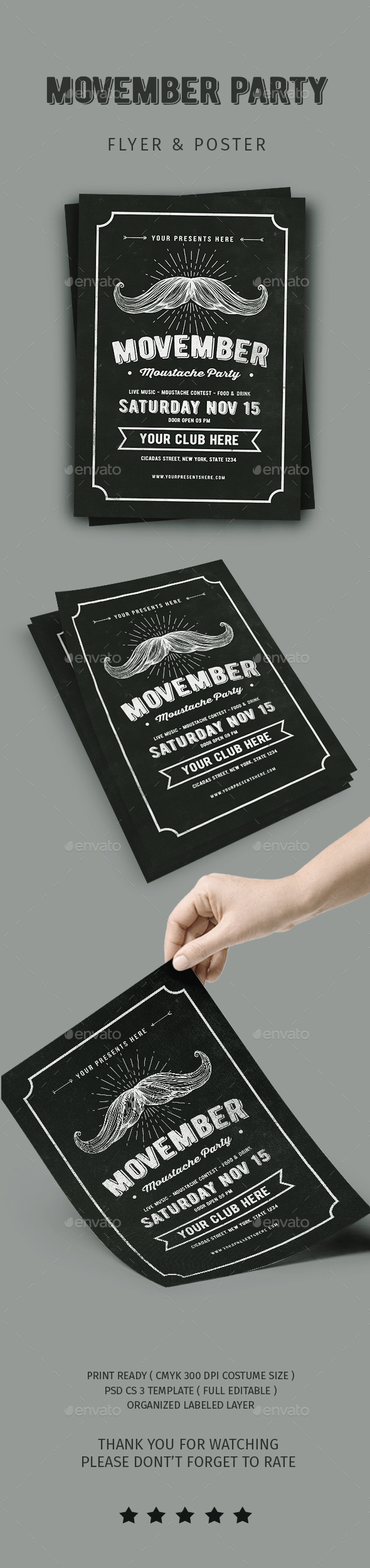 GraphicRiver Movember Flyer 20807596