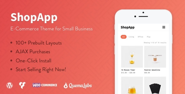 Image of ShopApp - WordPress Theme for Small Business