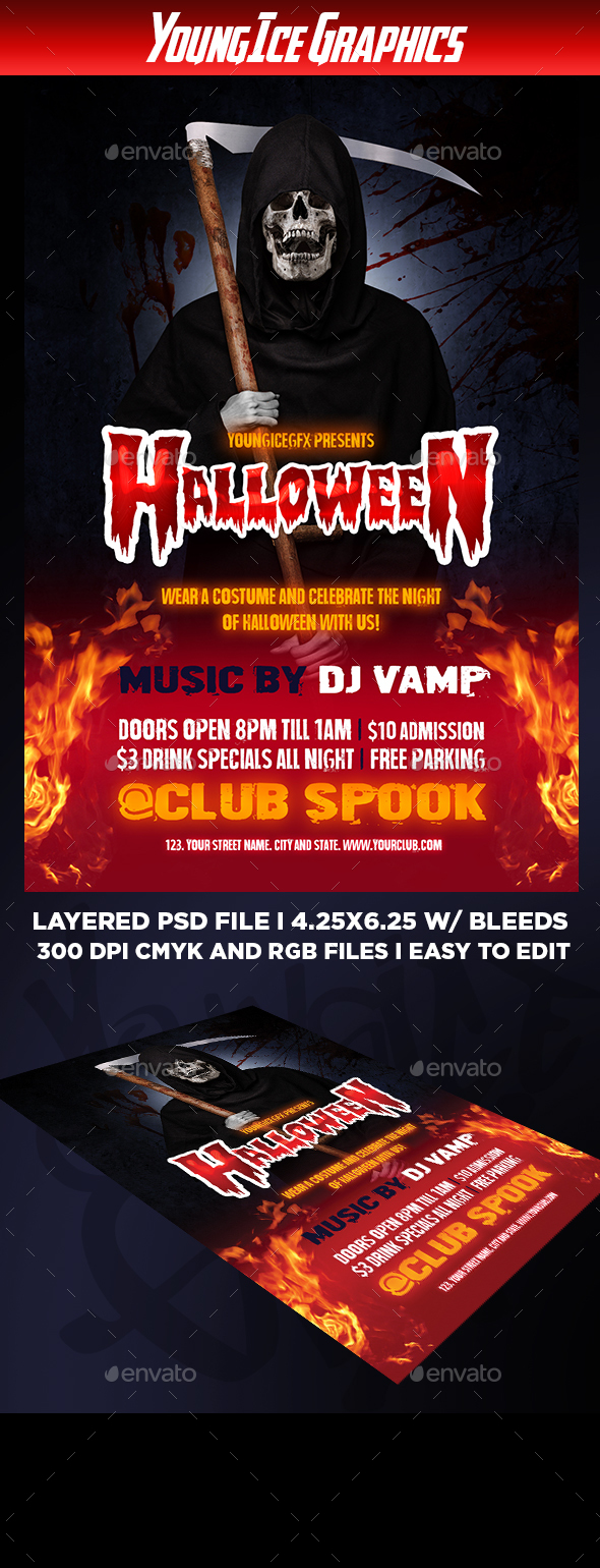 Halloween Flyer Template - Clubs & Parties Events