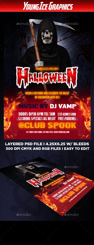 GraphicRiver Halloween Flyer Template 20807628