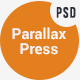 Parallax Press - One Page Multipurpose PSD Template - ThemeForest Item for Sale