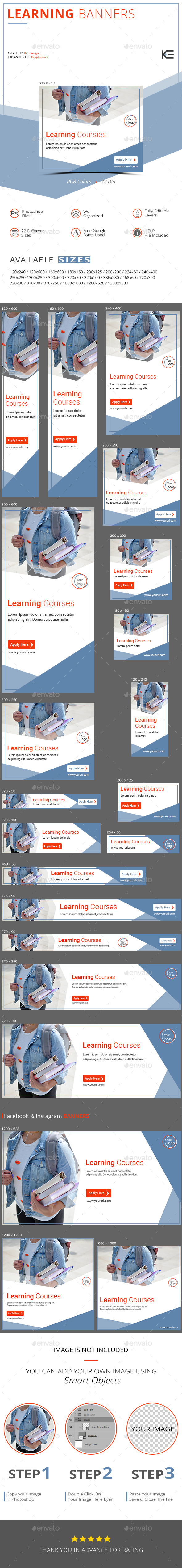 Learning Banners - Banners & Ads Web Elements