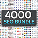 4000 Seo Bundle Icons Icons - GraphicRiver Item for Sale