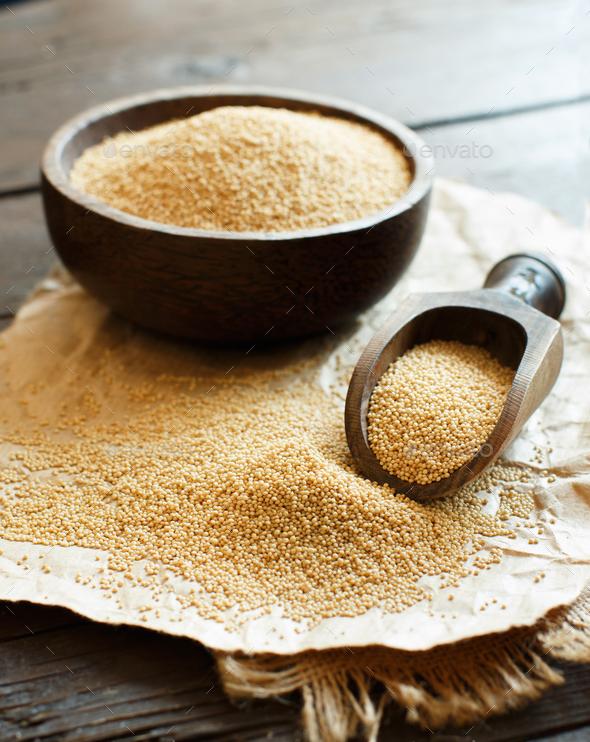 Raw Organic Amaranth grain - Stock Photo - Images
