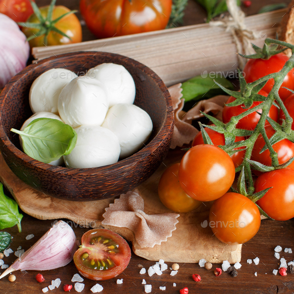 Italian cooking ingredients - Stock Photo - Images
